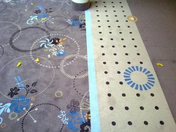 wykładzina dywanowa w salonie
