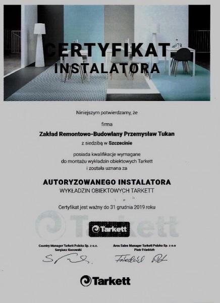 certyfikat instalatora